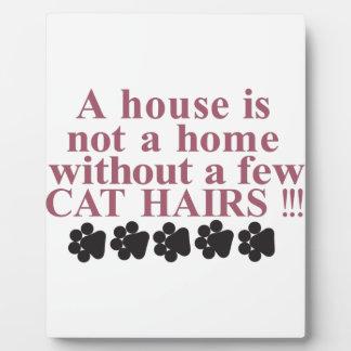 猫の毛を搭載する家 フォトプラーク