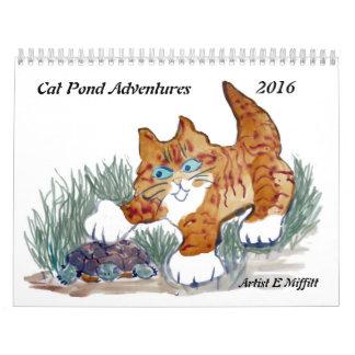 猫の池の冒険- 2016カレンダー カレンダー