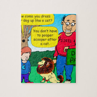 猫の漫画のように服を着る犬がなぜあるか901 ジグソーパズル