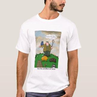 猫の牧夫-ソフトウェア開発者のマネージャー--は振れます Tシャツ