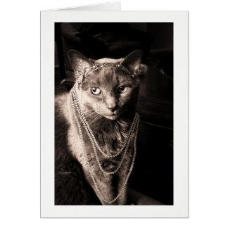 猫の猫の鳴き声 グリーティングカード