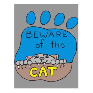 猫の用心して下さい ポストカード