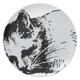 猫の睡眠 プレート