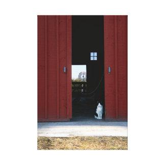 猫の納屋 キャンバスプリント