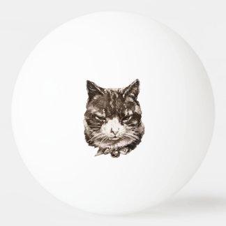 猫の絵を含むピンポン球 卓球ボール