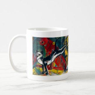 猫の絵を描くこと コーヒーマグカップ