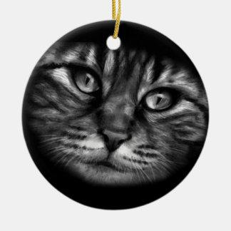 猫の絵画 セラミックオーナメント