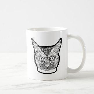 猫の線画のデザイン コーヒーマグカップ