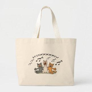 猫の聖歌隊 ラージトートバッグ
