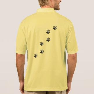 猫の足のプリント ポロシャツ