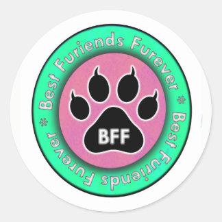 猫の足: BFF ラウンドシール
