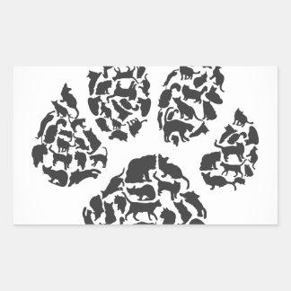 猫の跡 長方形シール
