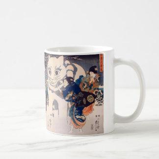 猫の雪だるま、大きな猫、Kuniyoshi、Ukiyo-eの国芳の雪だるま コーヒーマグカップ