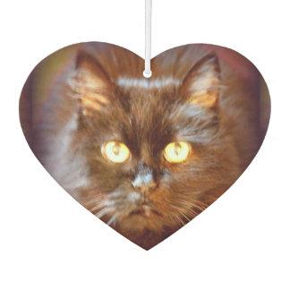 猫の顔かパグの顔 カーエアーフレッシュナー
