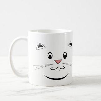 猫の顔のマグ コーヒーマグカップ