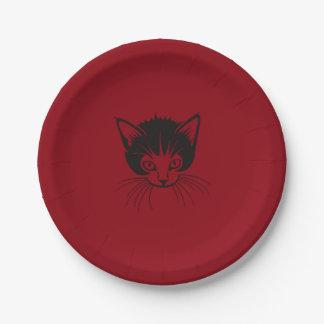 猫の顔の紙皿 ペーパープレート