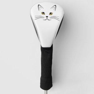 猫の顔 ゴルフヘッドカバー