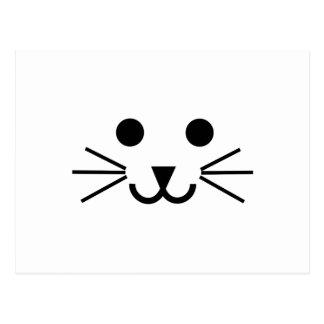 猫の顔 ポストカード