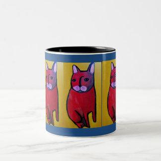 猫の飲むマグを愛して下さい ツートーンマグカップ