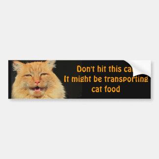 猫の餌の輸送車 バンパーステッカー