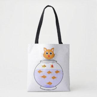 猫の魚のトートバック トートバッグ