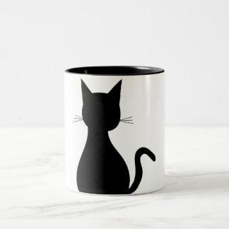 猫の鳴き声のマグ ツートーンマグカップ