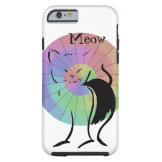 猫の鳴き声の子猫猫のかわいくおもしろいな虹のユーモア ケース