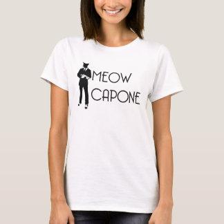 猫の鳴き声のCaponeの女性のTシャツ Tシャツ