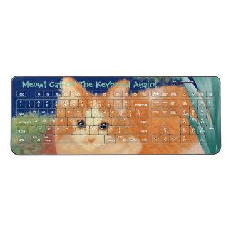 猫の鳴き声猫 ワイヤレスキーボード