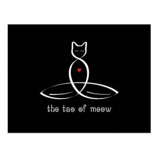 猫の鳴き声-ファンシーなスタイルのテキストのタオ 葉書き