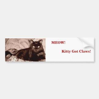 猫の鳴き声! 子猫によって得られる爪!                      … バンパーステッカー