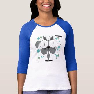 猫の(灰色の)女性のTシャツ Tシャツ