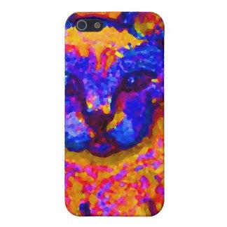 猫のCricketDianeのネオン灰色芸術及びデザイン iPhone 5 Cover