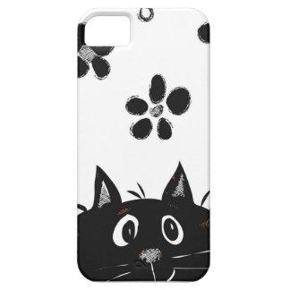 猫のIphoneの愛らしいピーカーブ式場合 iPhone SE/5/5s ケース