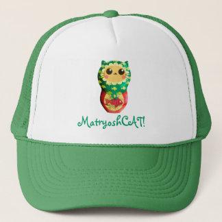 猫のMatryoshkaの人形 キャップ
