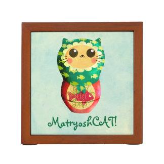 猫のMatryoshkaの人形 ペンスタンド