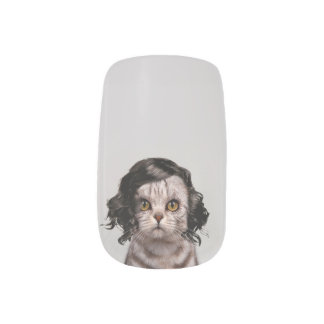 猫のMinxのネイルの猫の人形人格 ネイルアート