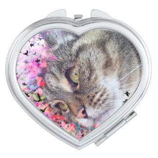 猫のPurfectのコンパクトの鏡