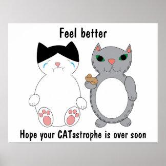 猫はカスタマイズ可能なよりよい勇気付けられるを感じます ポスター