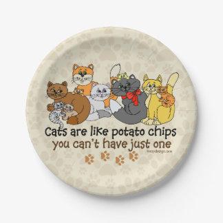 猫はポテトチップのようです ペーパープレート