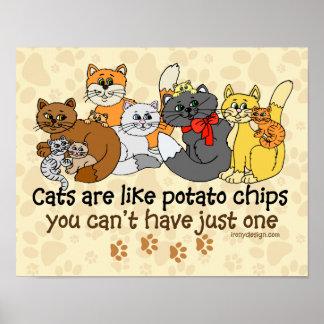 猫はポテトチップのようです ポスター