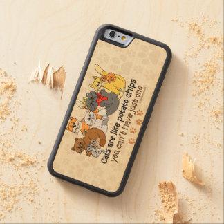猫はポテトチップのようです CarvedメープルiPhone 6バンパーケース