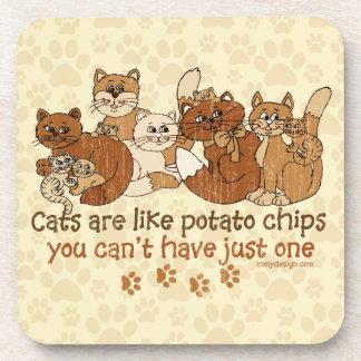 猫はポテトチップのグランジな版のようです コースター