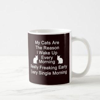 猫はマグ黒い理由のコーヒーです コーヒーマグカップ