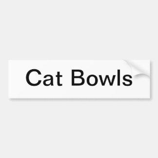 猫は印ボーリングをします バンパーステッカー