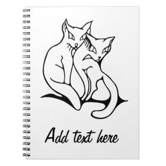 猫は愛元のスケッチでつなぎます ノートブック