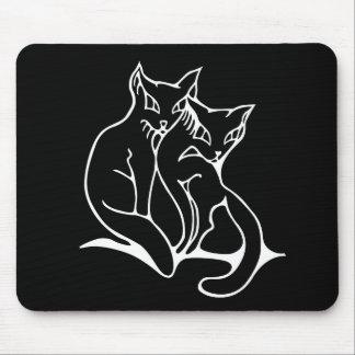 猫は愛元のスケッチでつなぎます マウスパッド