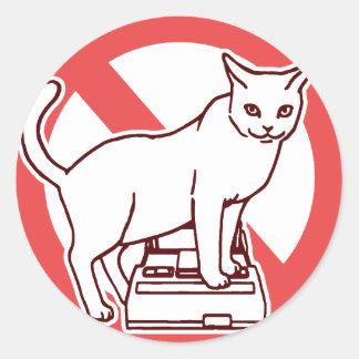 猫は日本のコンピュータを再調節します ラウンドシール