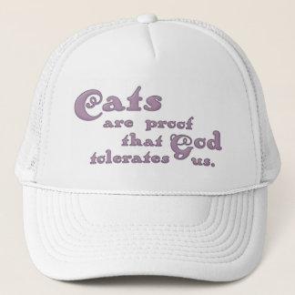猫は神が私達を容認すること証拠です キャップ