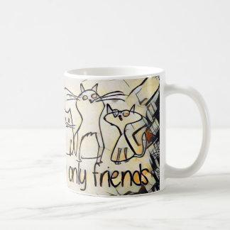 猫は私の友人だけです コーヒーマグカップ